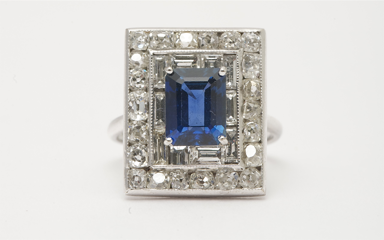 Art-Deco-18k-White-Gold-Emerald-Cut-Sapphire-Old-Cut-Diamond-Cluster-Ring.jpg