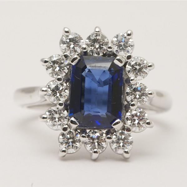 Handmade-18k-White-Gold-Emerald-Cut-Sapphire-Brilliant-Cut-Diamond-Claw-Set-Cluster-Ring.jpg