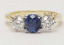 Handmade-18k-White-Gold-Sapphire-Brilliant-Cut-Diamond-Claw-Set-Three-Stone-Ring-with-18k-Yellow-Gold-Band.jpg