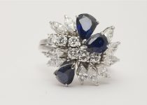 Vintage-18k-White-Gold-Pear-Shaped-Sapphire-and-Brilliant-Cut-Marquis-Cut-Diamond-Cluster-Ring-.jpg
